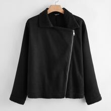 Plus Zip Up Sherpa Lined Jacket