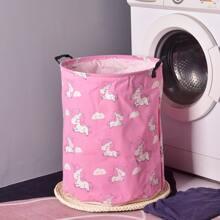 Unicorn Print Clothes Storage Basket