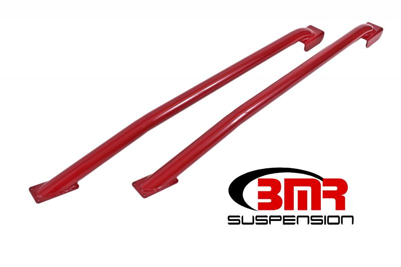 BMR Suspension SFC024R Subframe Connectors Weld-on Tubular Standard Hardtop Only Red Ford Mustang 79-04