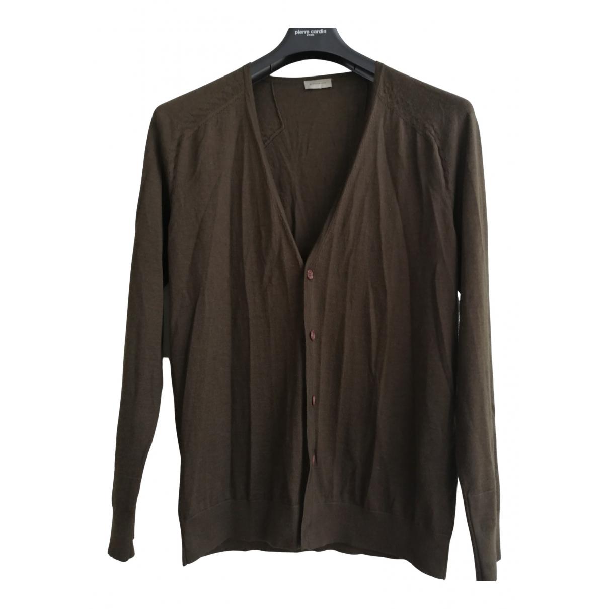 Balenciaga \N Pullover.Westen.Sweatshirts  in  Khaki Wolle
