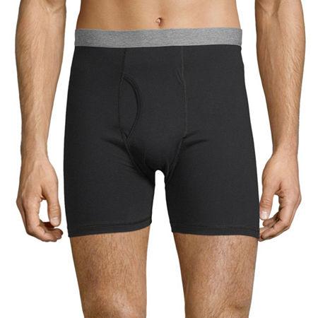 Stafford 4 Pair Dry+Cool Blended Boxer Briefs - Men's, Medium , Black