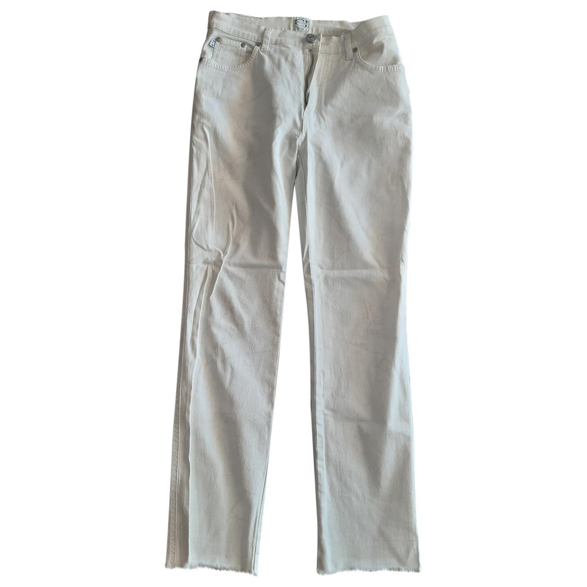 Roberto Cavalli \N White Cotton - elasthane Jeans for Women 28 US