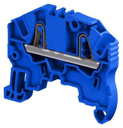 Entrelec , ZK2.5, 1 kV Standard Din Rail Terminal, Spring Clamp Termination, Blue (10)
