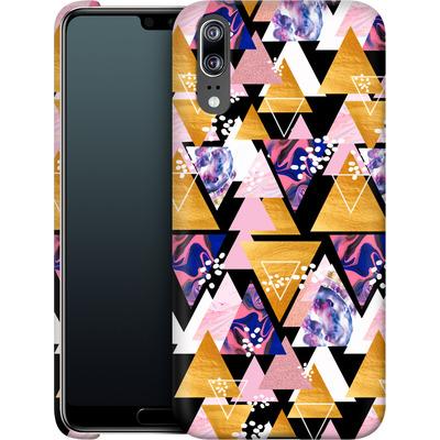 Huawei P20 Smartphone Huelle - Blush Geo Black von Mukta Lata Barua