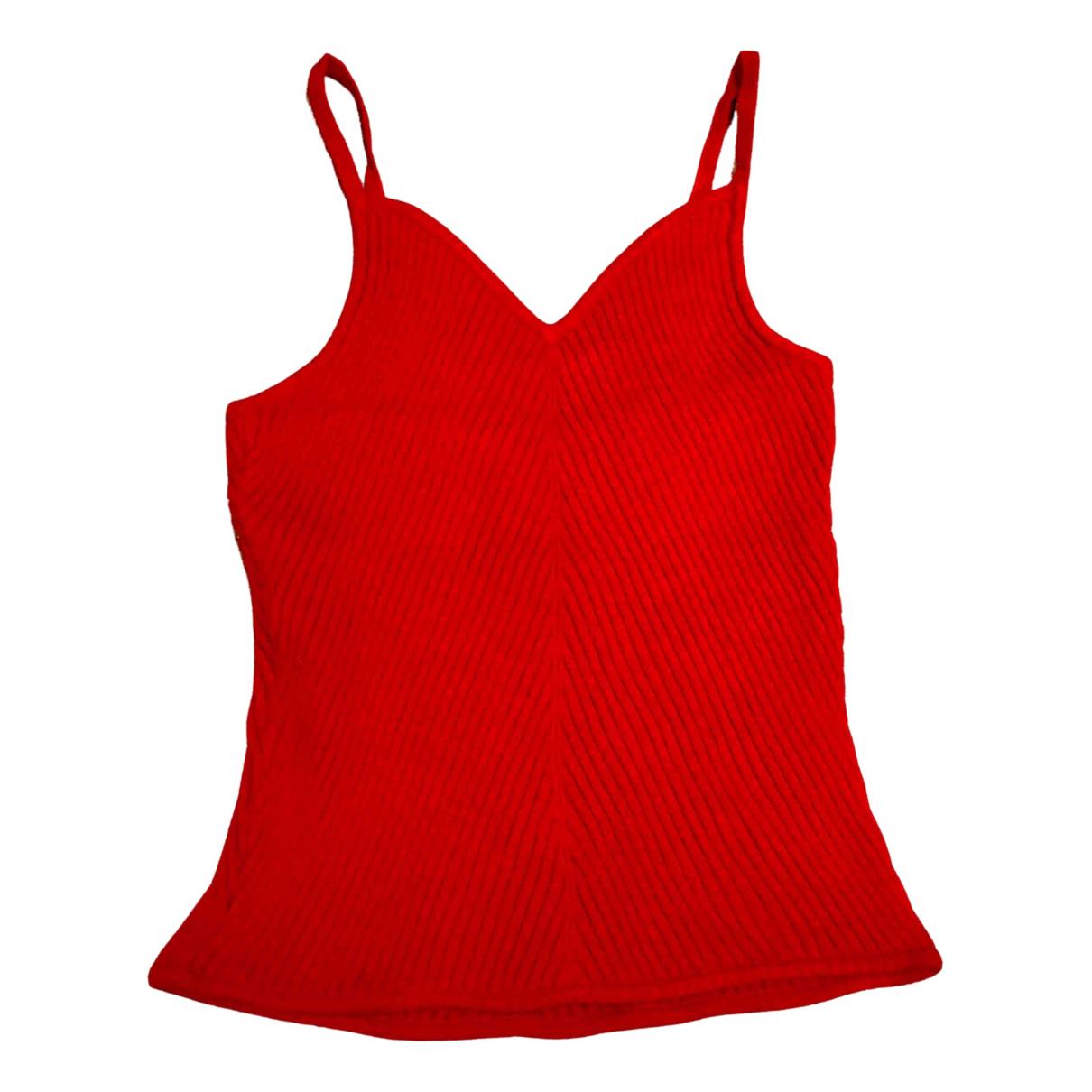 Emporio Armani - Top   pour femme - rouge