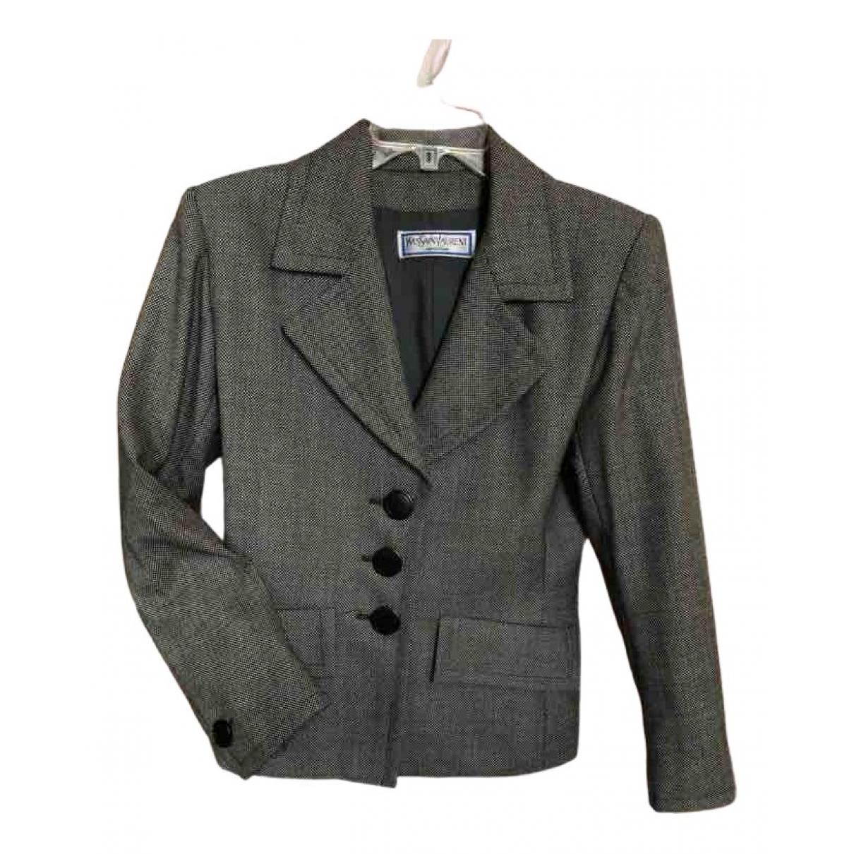 Yves Saint Laurent N Grey Wool jacket for Women 40 FR