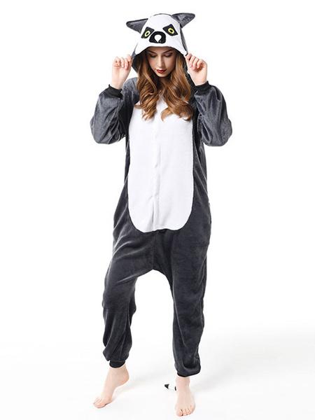Milanoo Pijamas Kigurumi Owl Onesie Adulto Cafe Marron Franela Mono Disfraces Cosplay Halloween