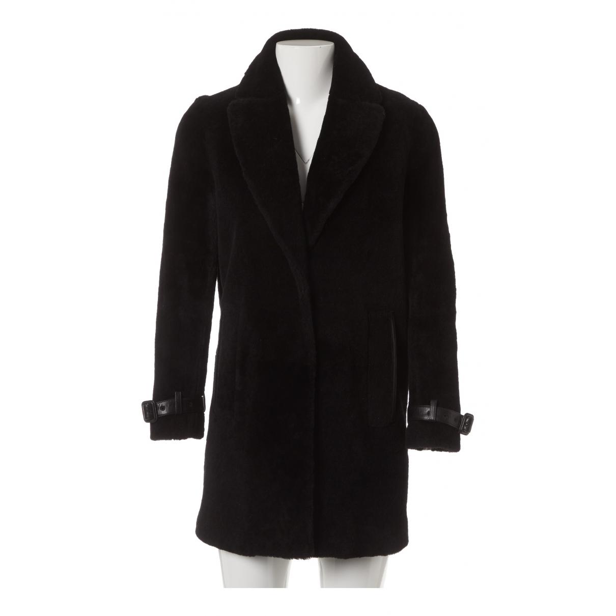 Burberry \N Black Shearling coat for Women 34 FR