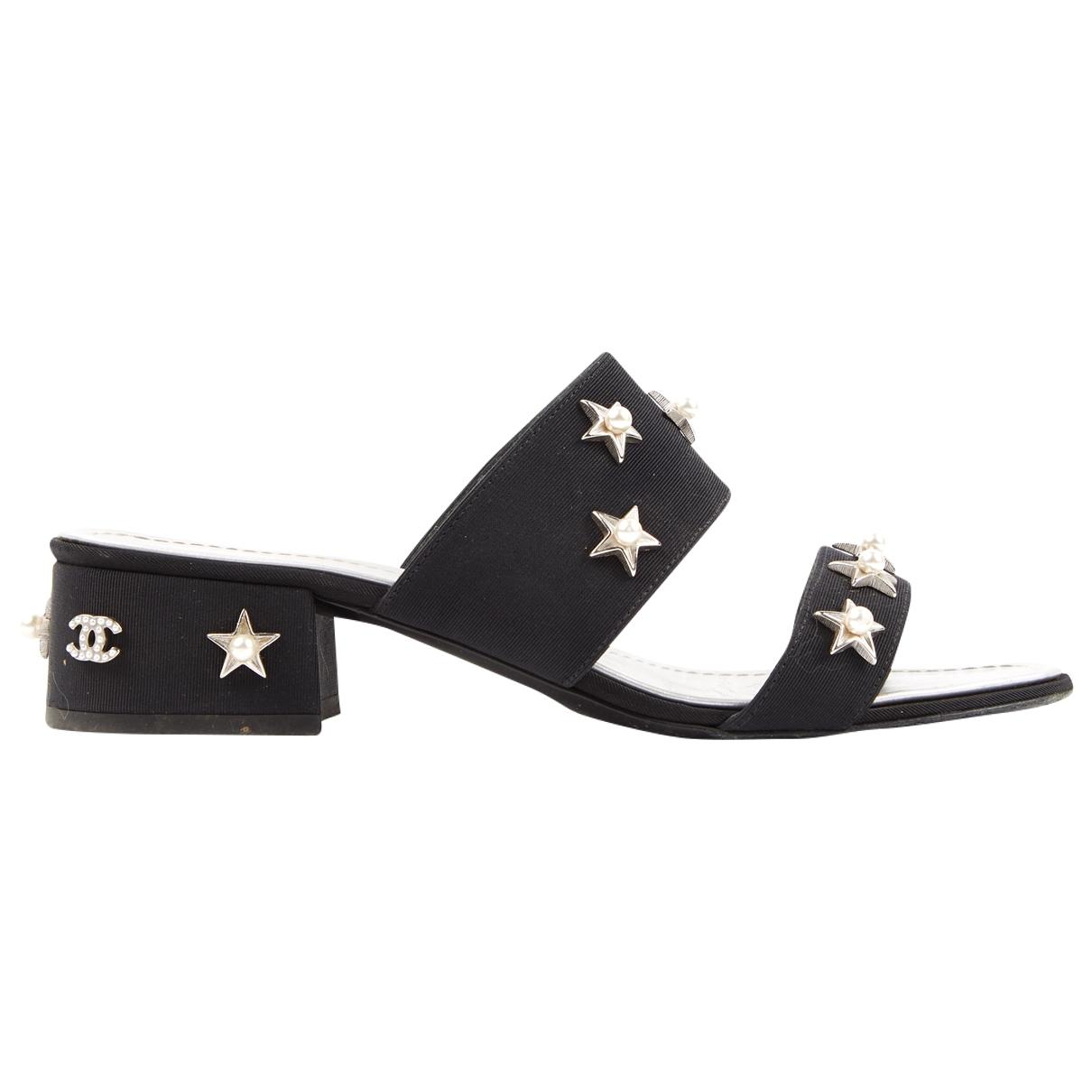 Chanel \N Black Cloth Sandals for Women 36.5 EU