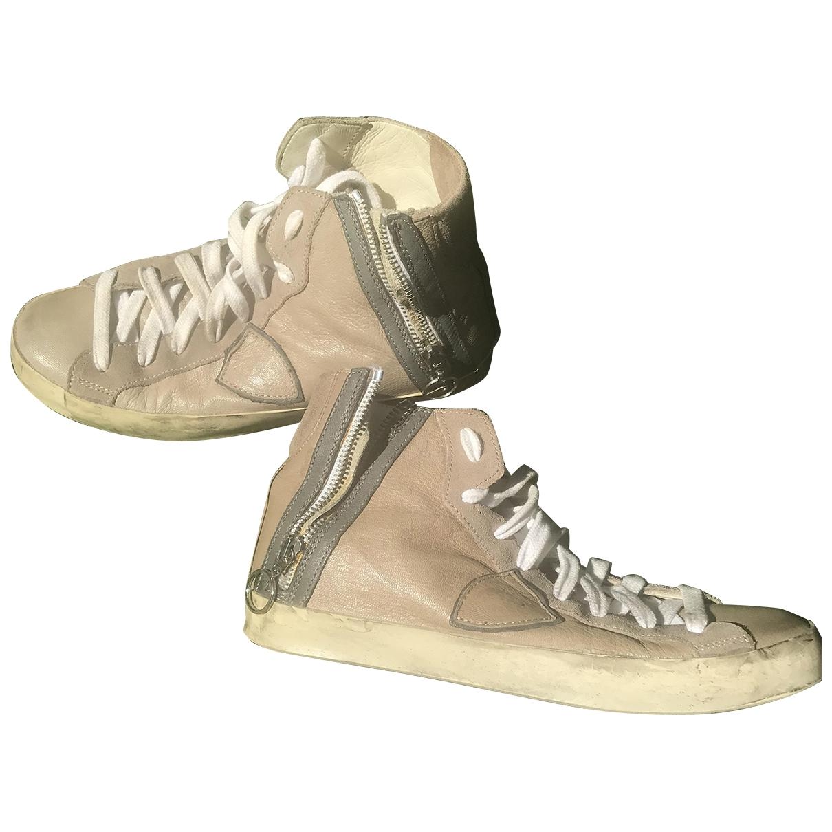 Philippe Model \N Sneakers in  Grau Leder