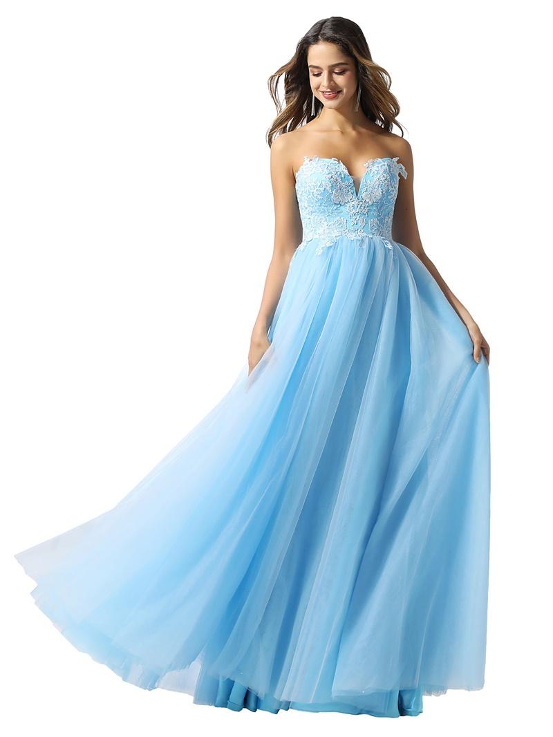 Ericdress Floor-Length A-Line Sleeveless Sweetheart Prom Dress 2020