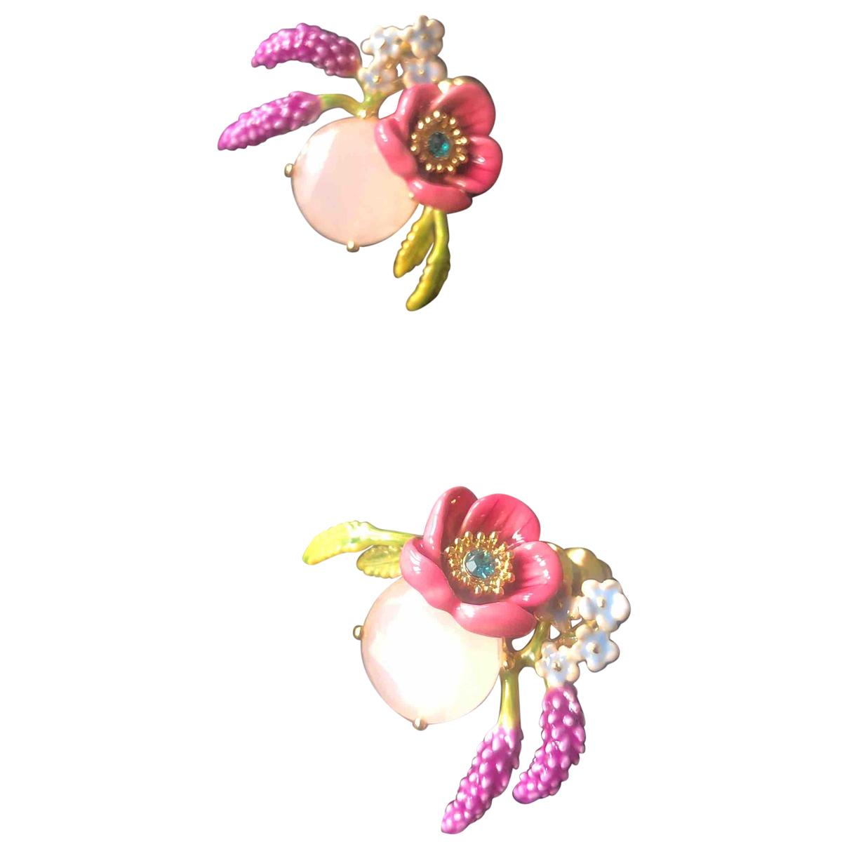 Les Néréides N Pink Metal Earrings for Women N