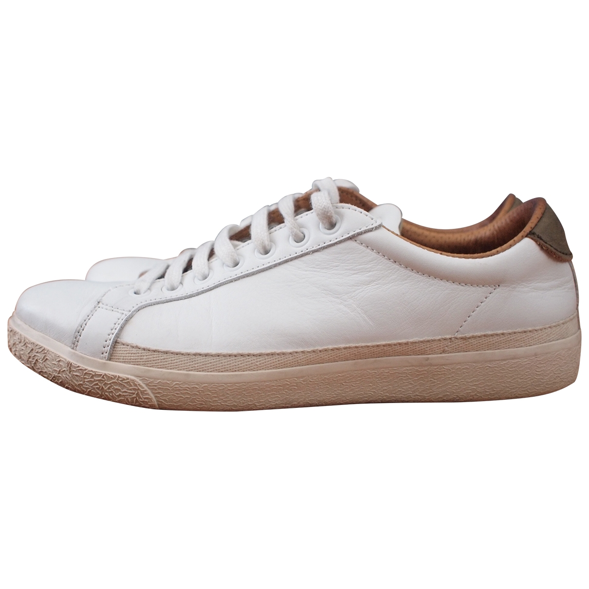 Aspesi - Baskets   pour femme en cuir - blanc