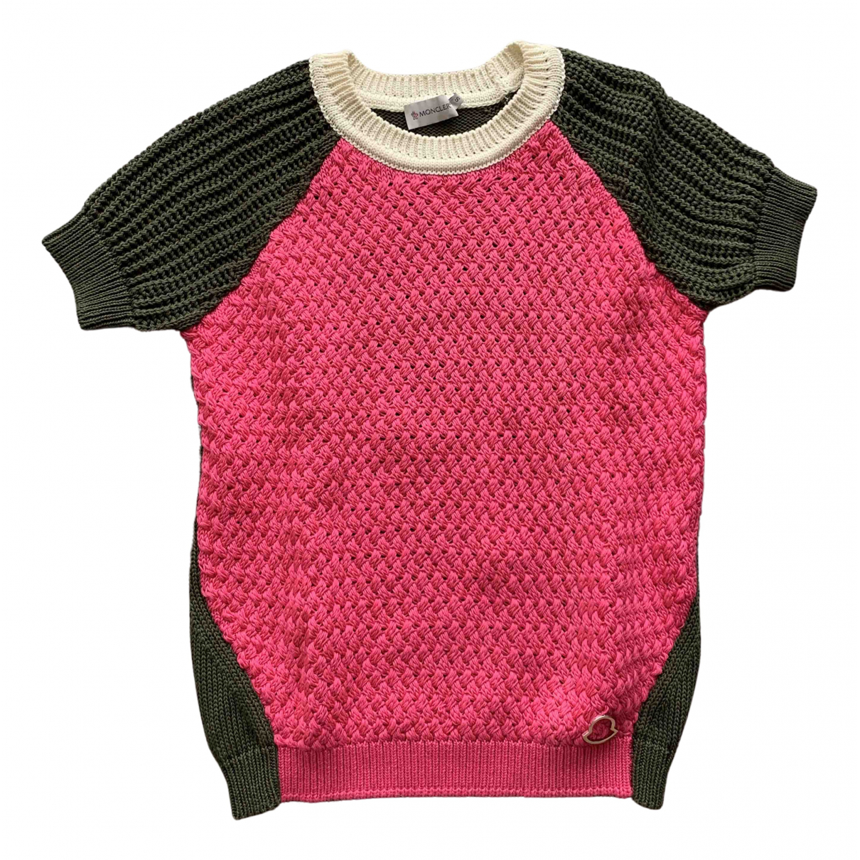 Moncler \N Pullover in  Rosa Baumwolle