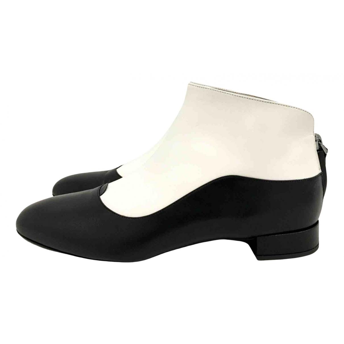 Giorgio Armani - Boots   pour femme en cuir - noir