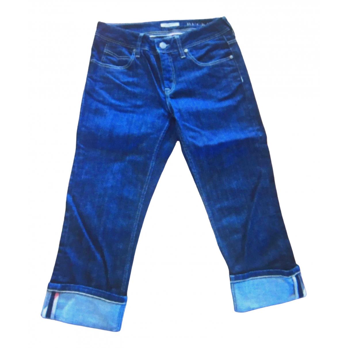 Burberry \N Blue Denim - Jeans Trousers for Women 38 FR