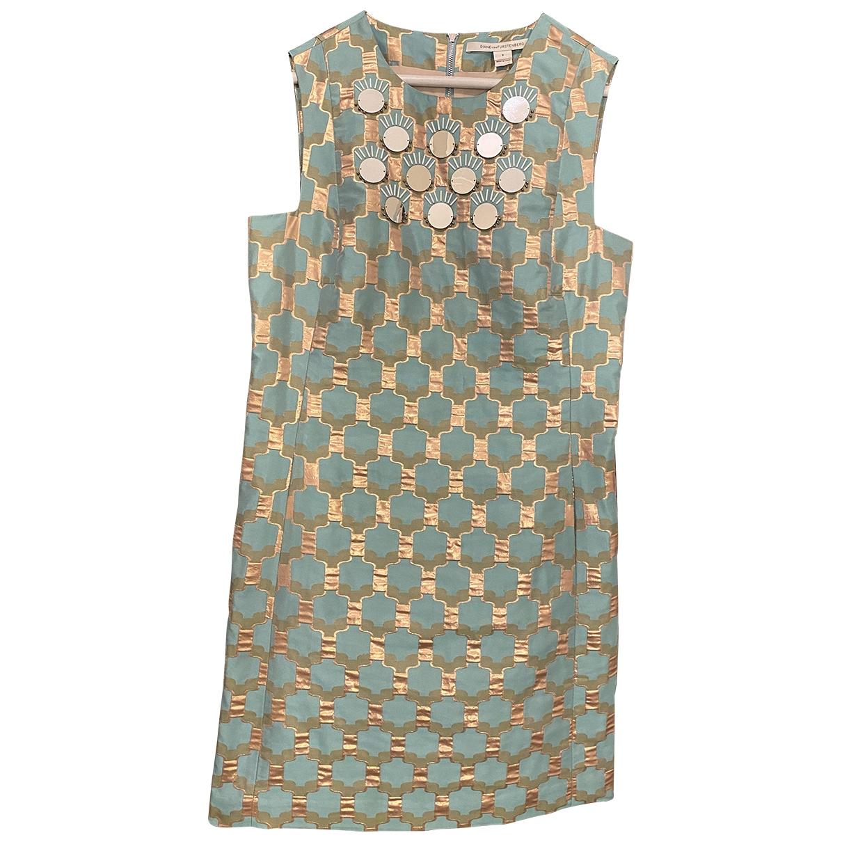 Diane Von Furstenberg \N Kleid in  Tuerkis Mit Pailletten