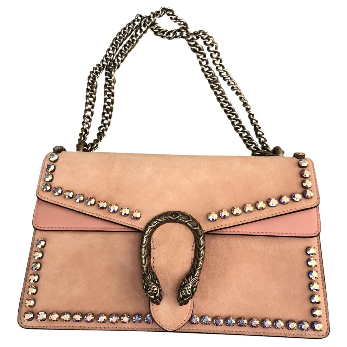 Gucci Dionysus Handtasche in  Rosa Veloursleder