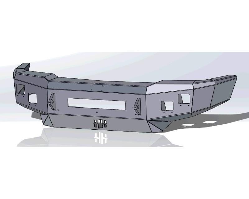Hammerhead Armor 600-56-0599 Silverado HD Front Winch Bumper Low Profile No Brushguard For 03-06 Silverado 2500-3500 HD
