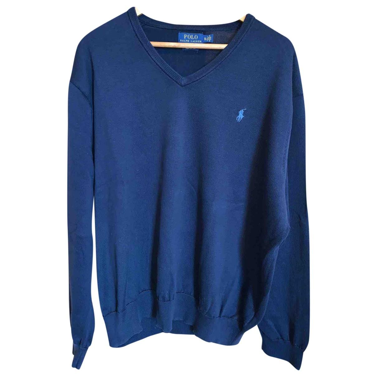 Polo Ralph Lauren - Pulls.Gilets.Sweats   pour homme en coton - marine
