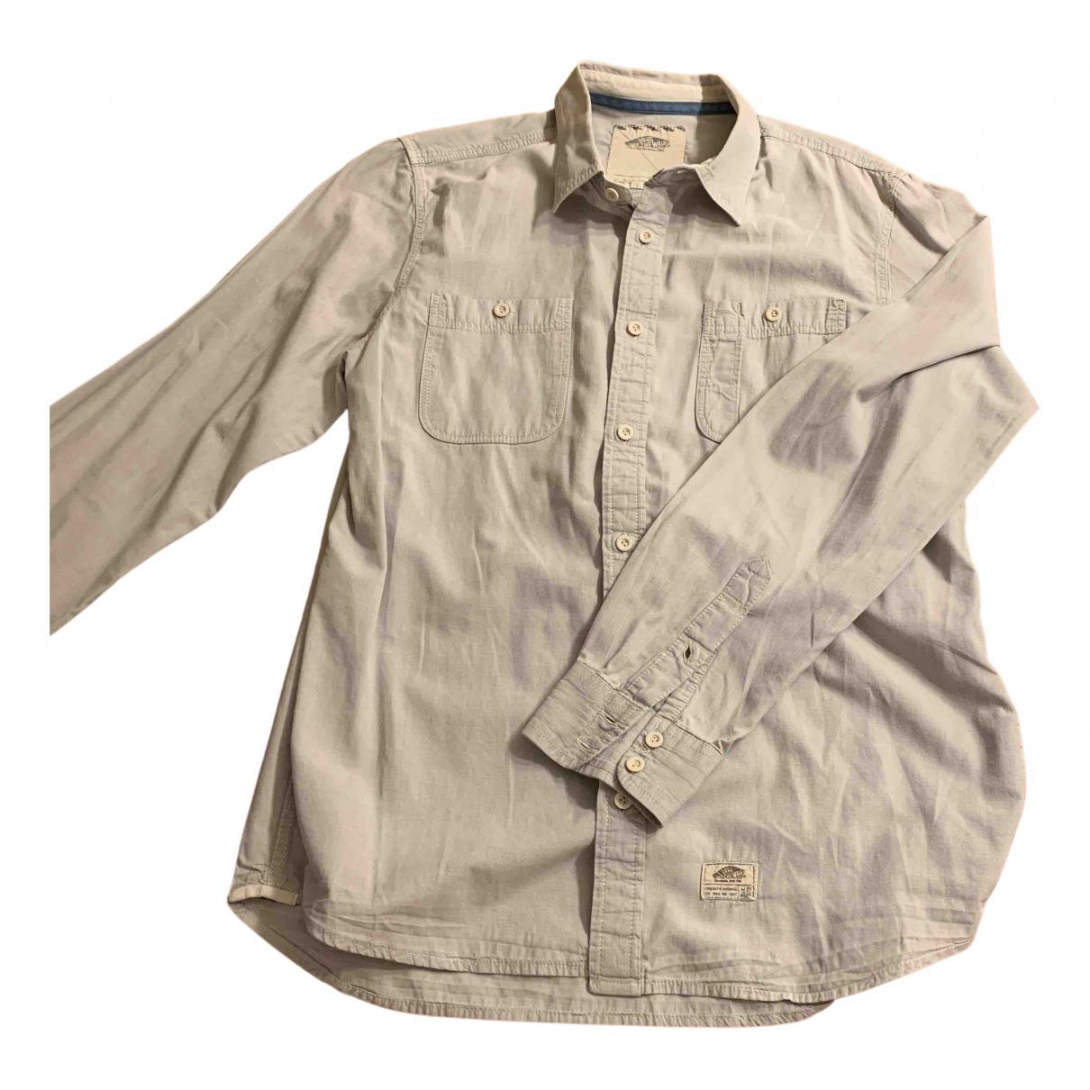 Vans - Chemises   pour homme en coton - gris