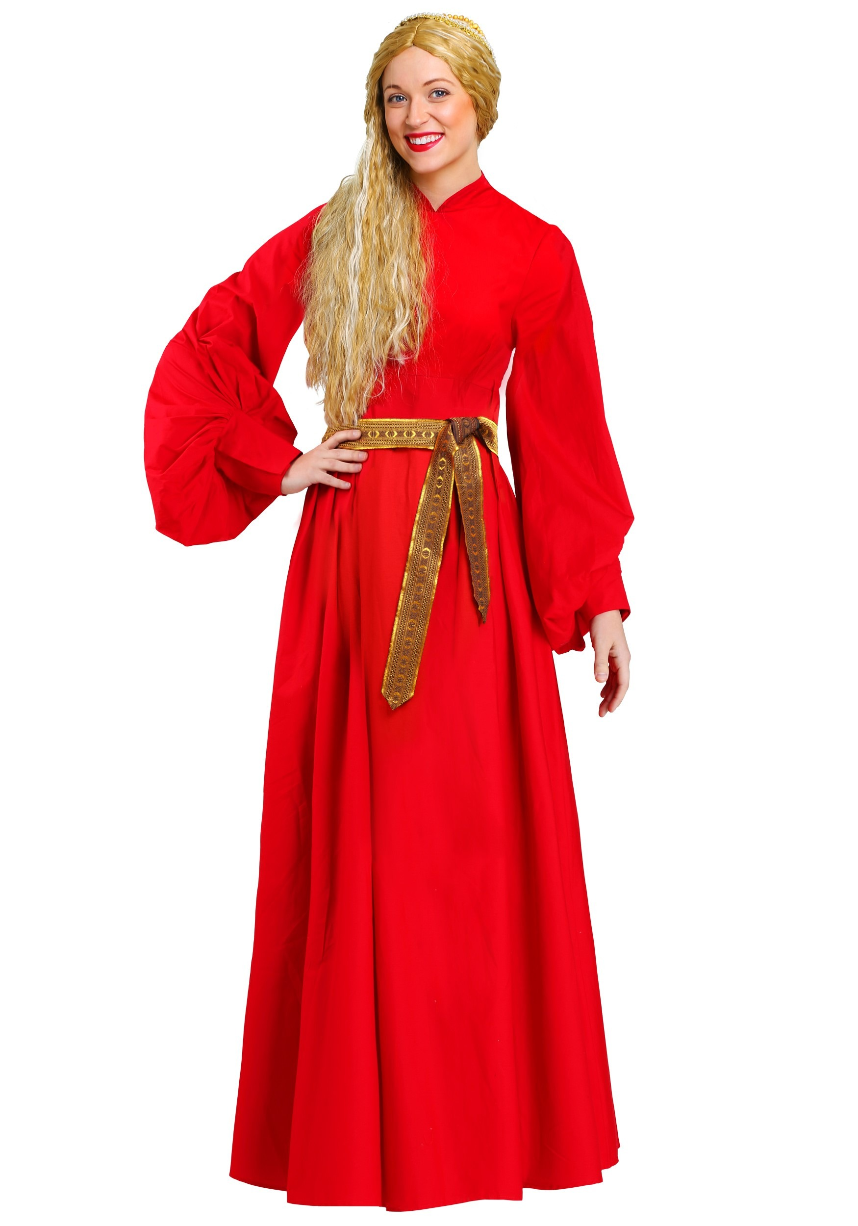 Womens Princess Bride Red Buttercup Dress Costume