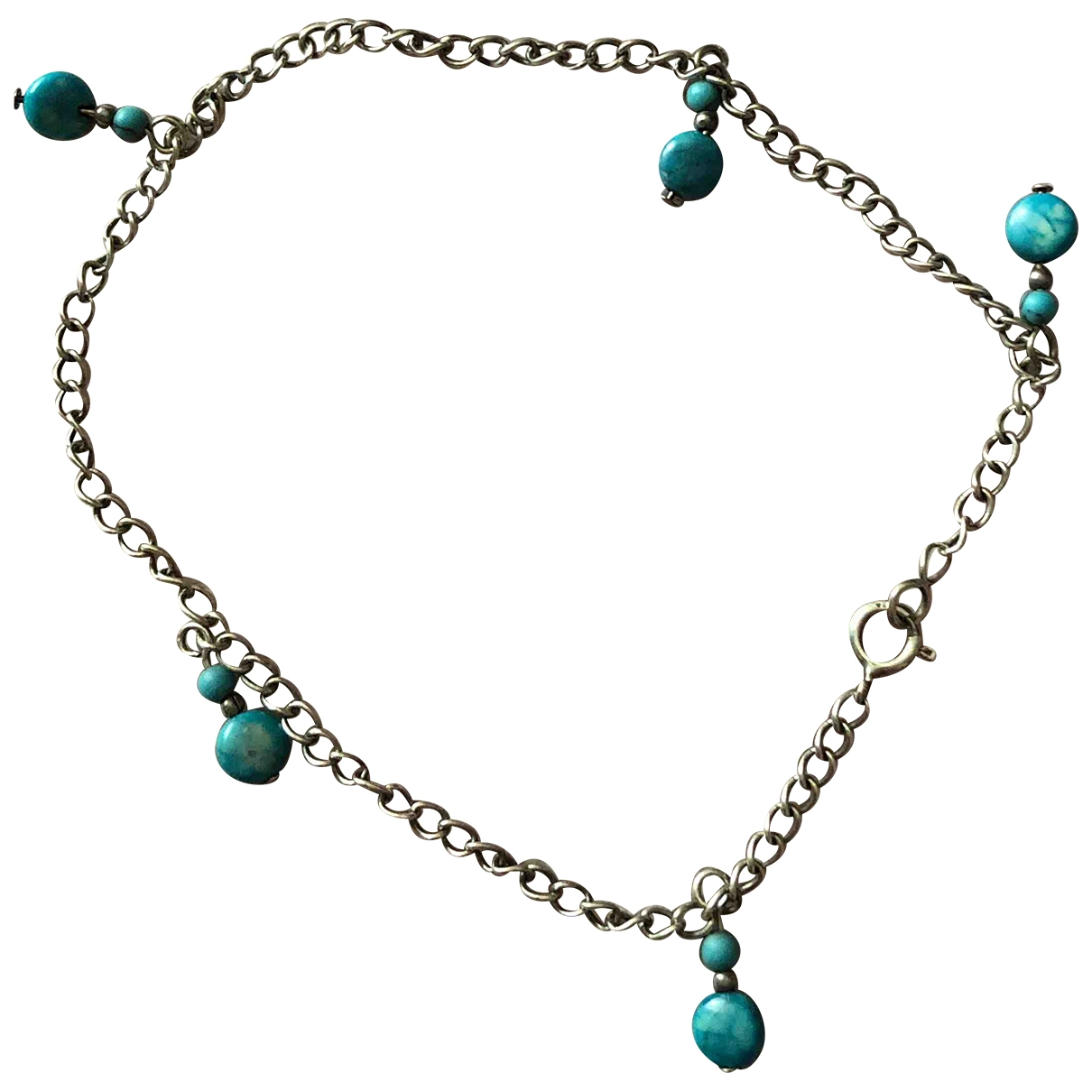 Non Signé / Unsigned Turquoises Turquoise Silver bracelet for Women \N