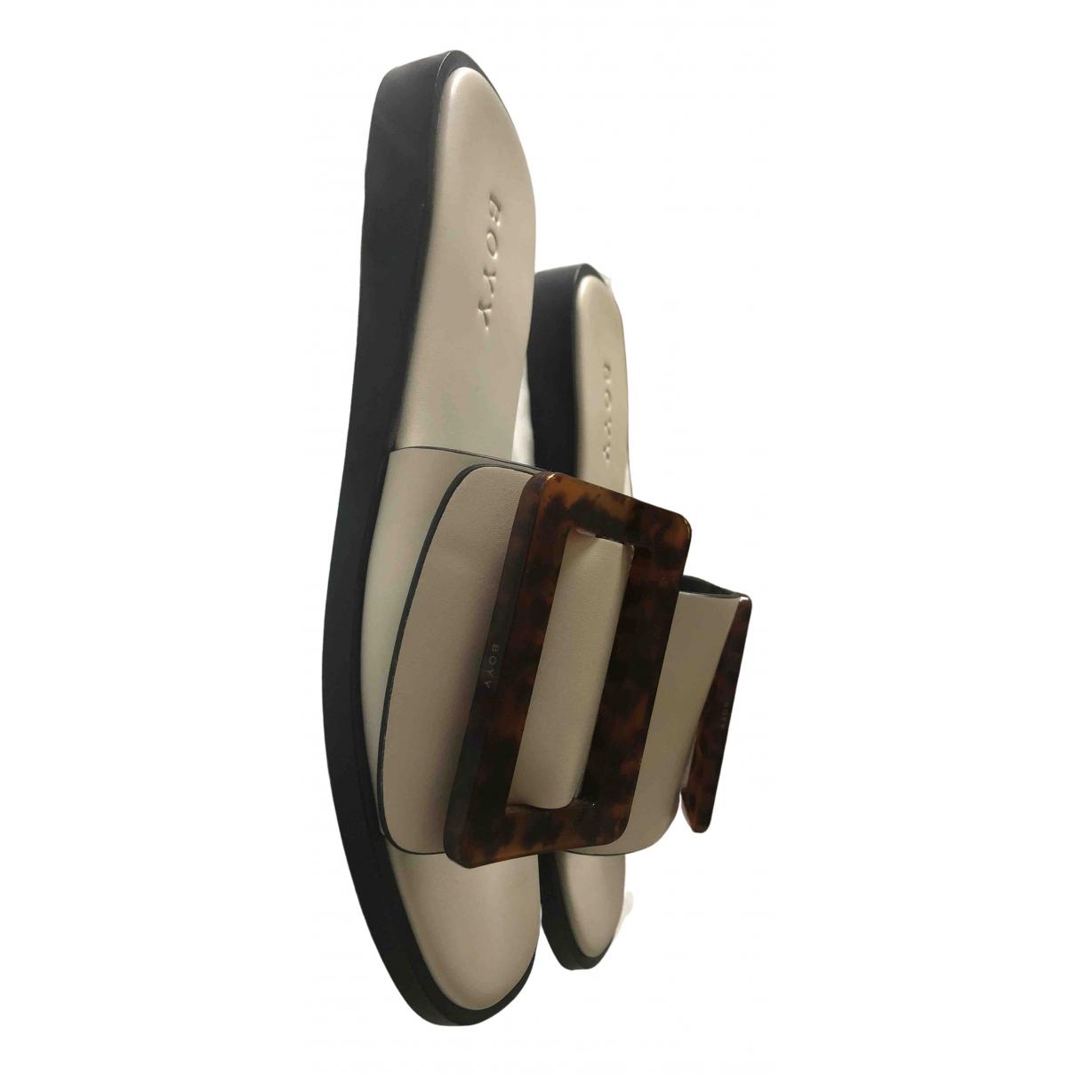 Boyy - Sandales   pour femme en cuir - blanc