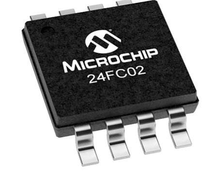 Microchip 24FC02-I/P, 2kbit EEPROM Memory Chip, 3500ns 8-Pin PDIP I2C, Serial-2 Wire (60)