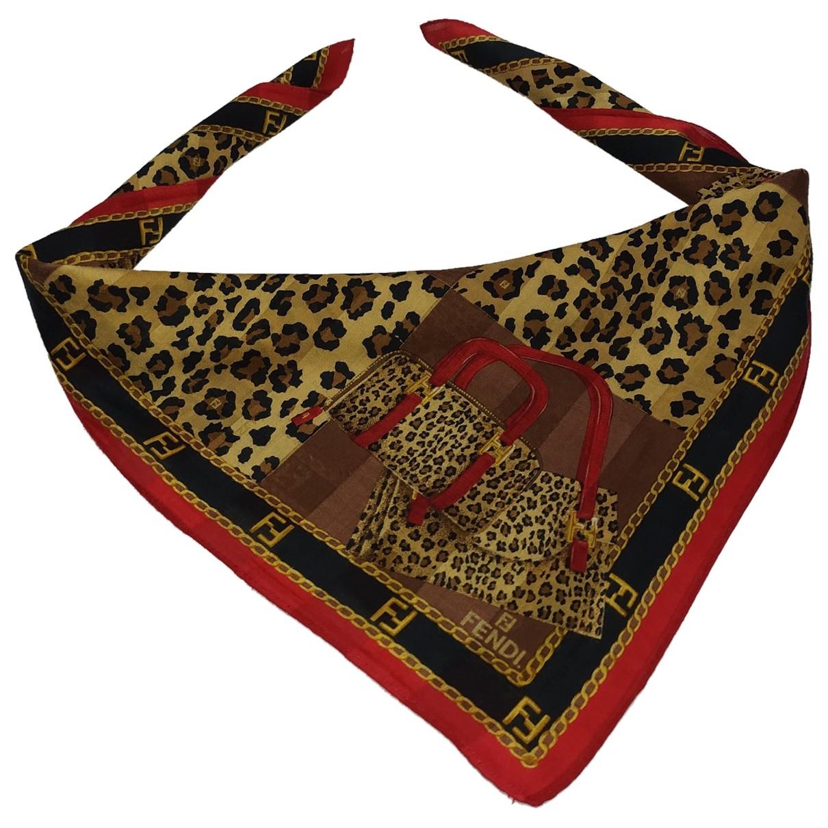 Fendi \N Multicolour Cotton Silk handkerchief for Women \N