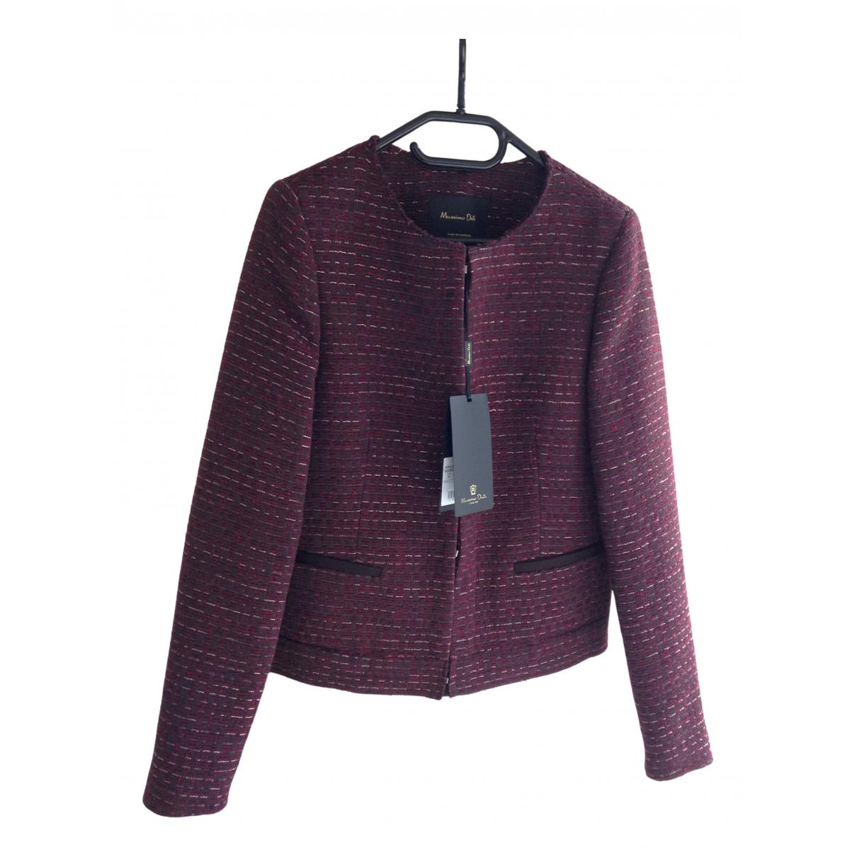Massimo Dutti \N Burgundy Cotton jacket for Women XS International