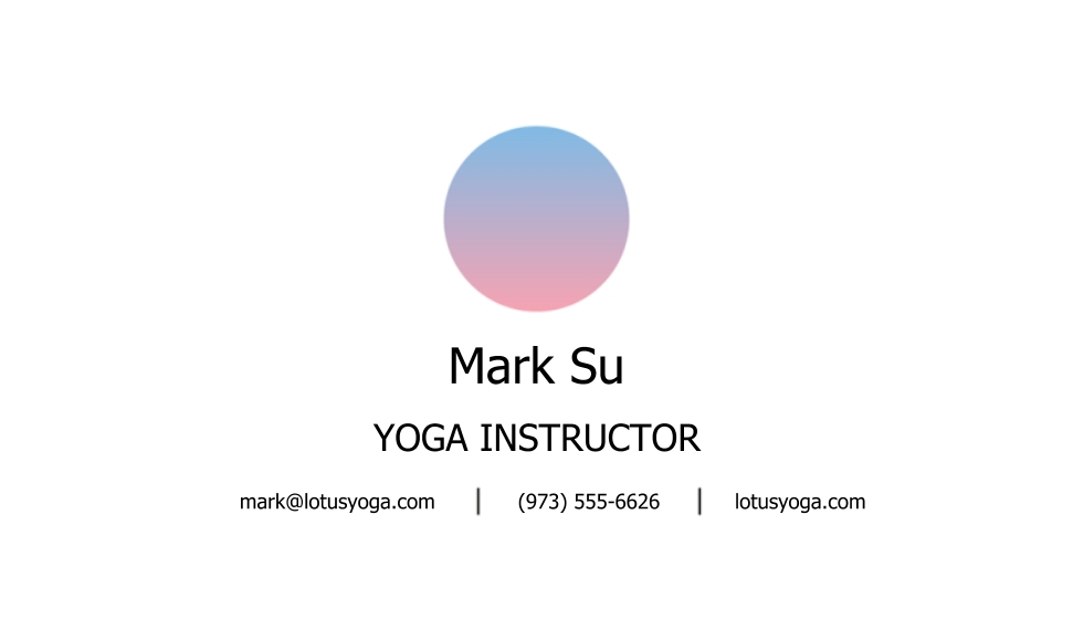 Modern Business Cards, Set of 40, Rounded Corners, Card & Stationery -Lotus Yoga