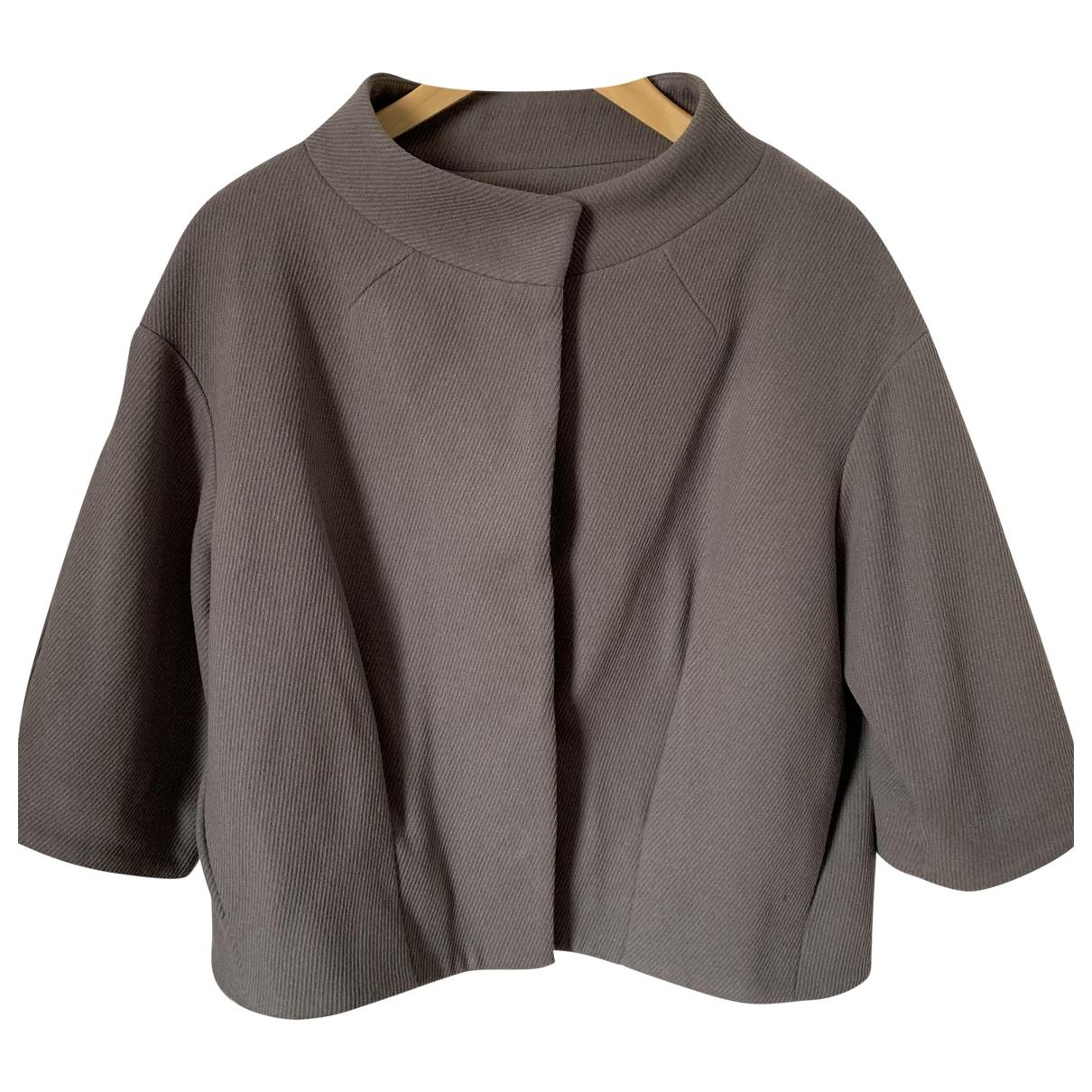 Maje \N Grey Wool coat for Women 2 0-5