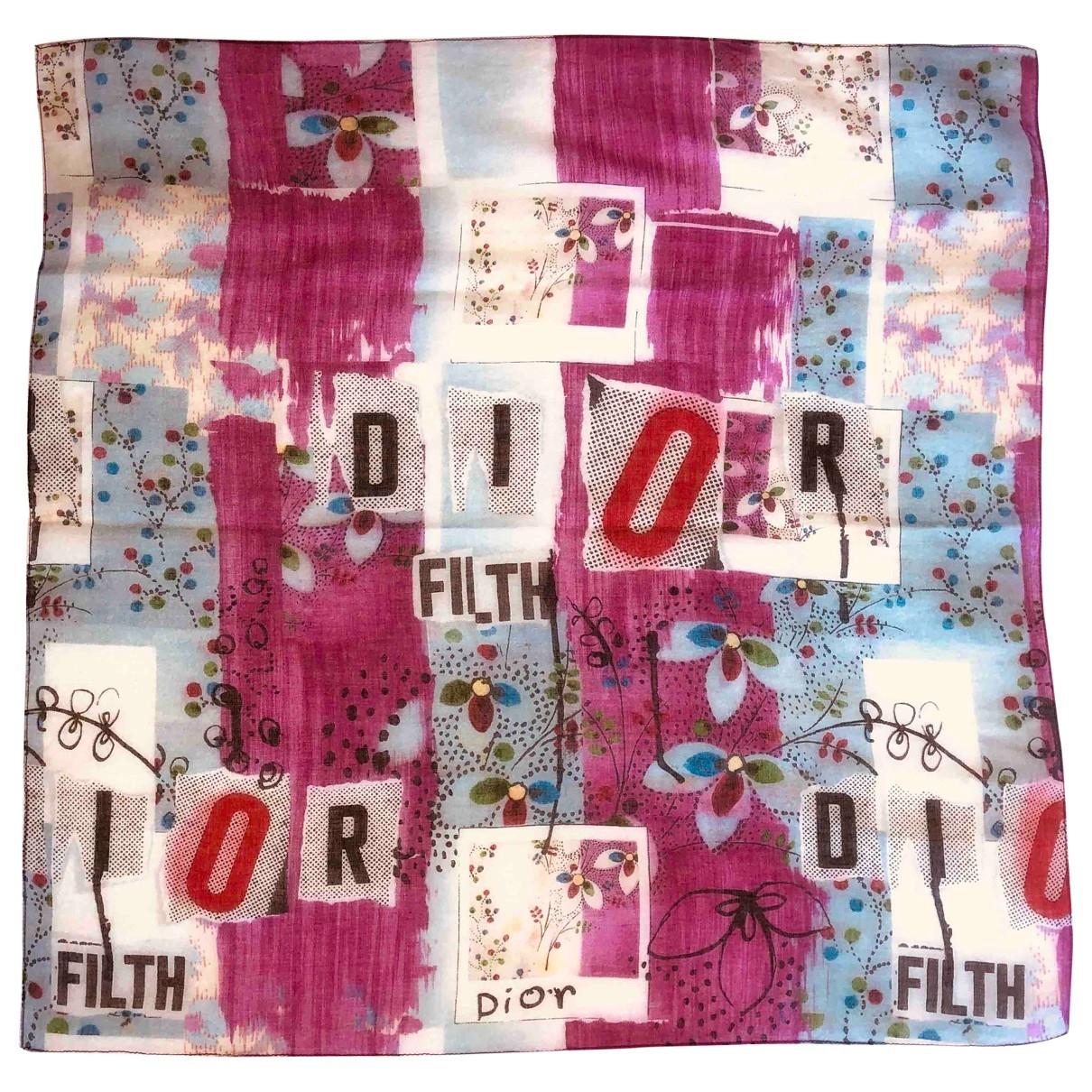 Dior - Foulard   pour femme en coton - multicolore