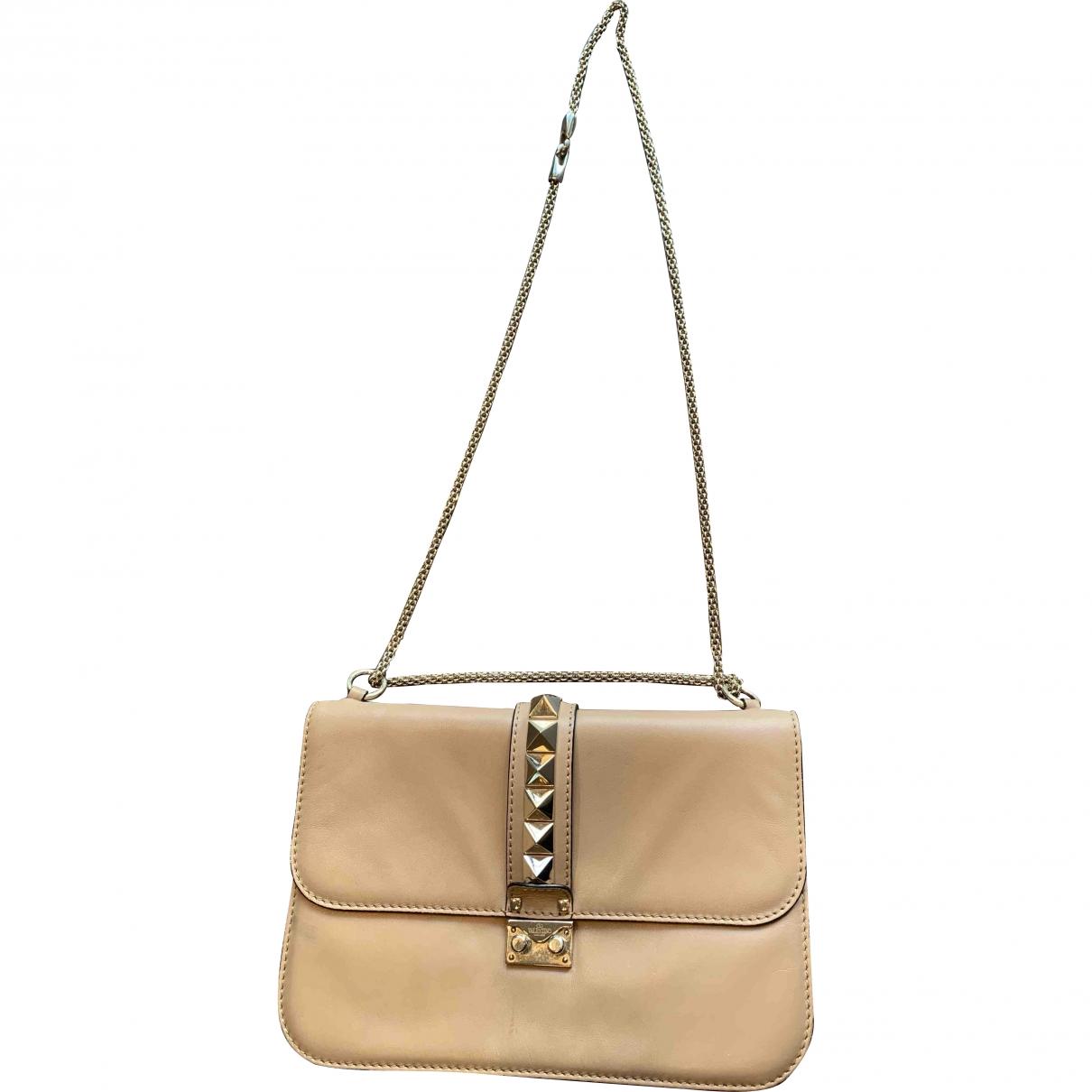 Valentino Garavani Glam Lock Beige Leather handbag for Women \N