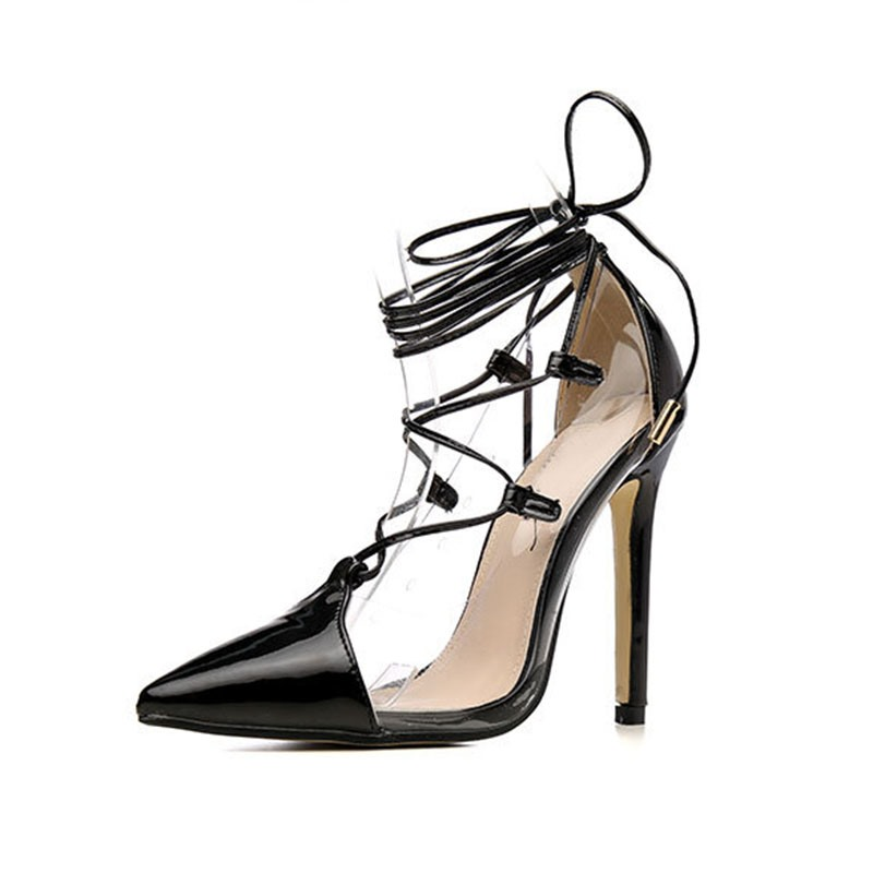 Ericdress Pointed Toe Thread Lace-Up Pumps