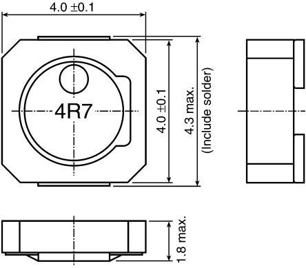 TDK , VLCF Shielded Wire-wound SMD Inductor 33 μH ±20% Wire-Wound 740mA Idc (5)