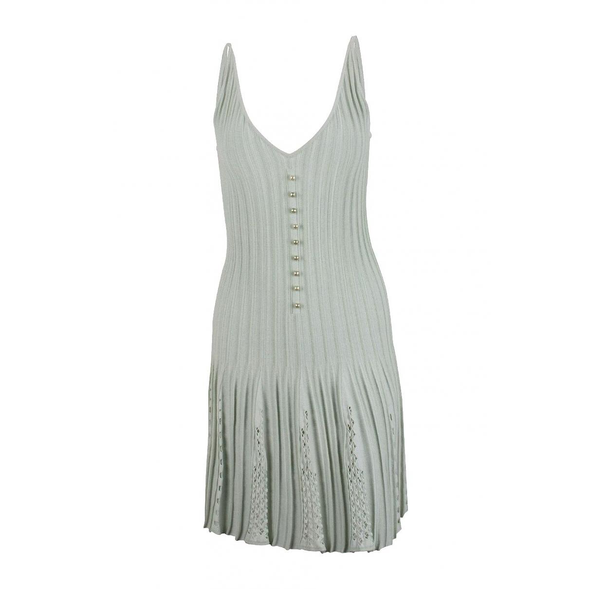 Chanel \N Kleid in  Grau Baumwolle