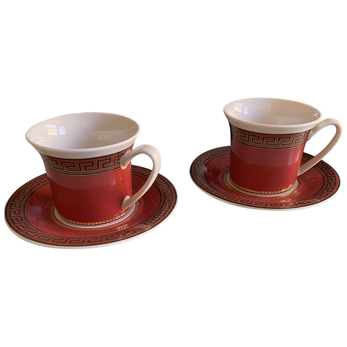 Versace \N Red Porcelain Dinnerware for Life & Living \N