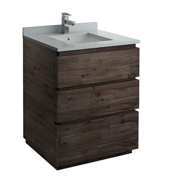 FCB3130ACA-FC-CWH-U Formosa 30 Floor Standing Modern Bathroom Cabinet with Top and