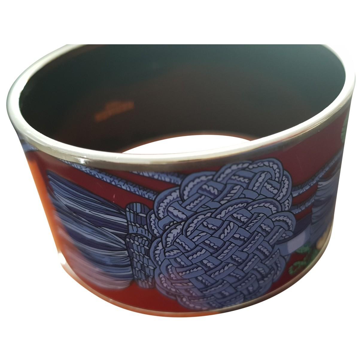 Hermes - Bracelet   pour femme en argent - bordeaux