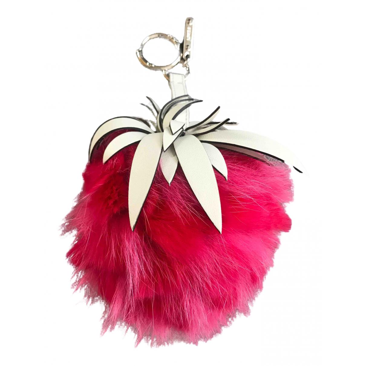 Fendi - Bijoux de sac   pour femme en lapin - rose