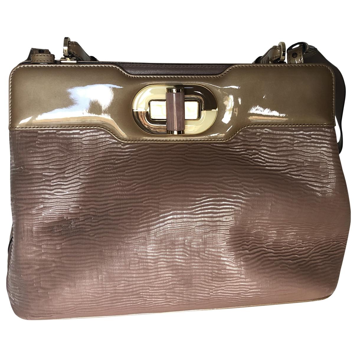 Bvlgari Rossellini Handtasche in  Rosa Lackleder