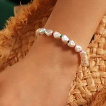 Pulsera con cuenta con perla artificial