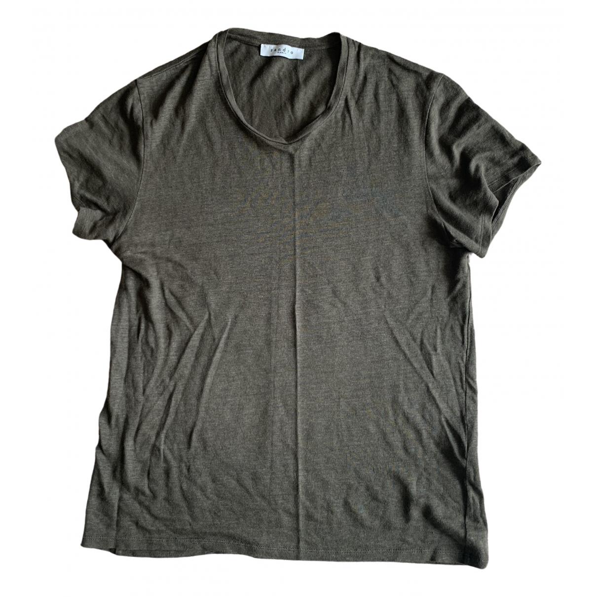 Sandro \N Green Linen T-shirts for Men XS International