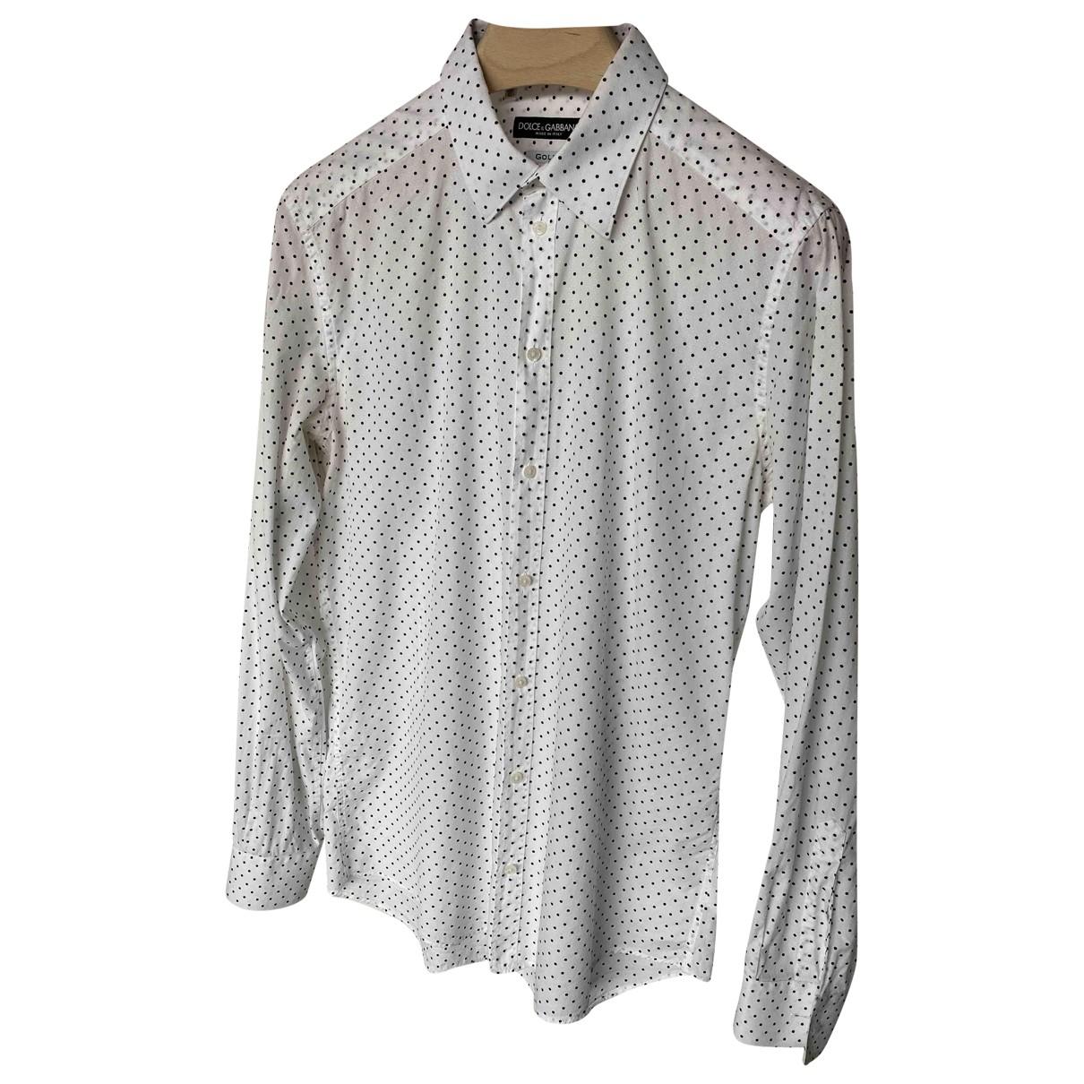 Dolce & Gabbana N White Cotton Shirts for Men 41 EU (tour de cou / collar)