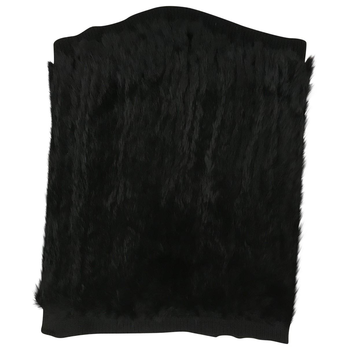 Helmut Lang \N Black Fur scarf for Women \N