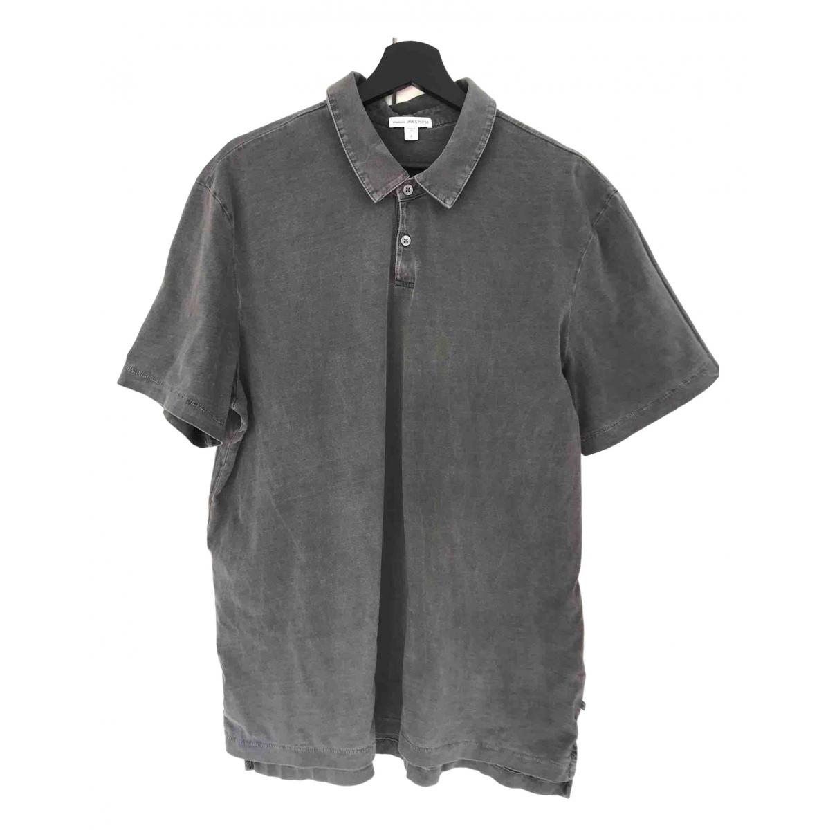 James Perse \N Grey Cotton T-shirts for Men XL International