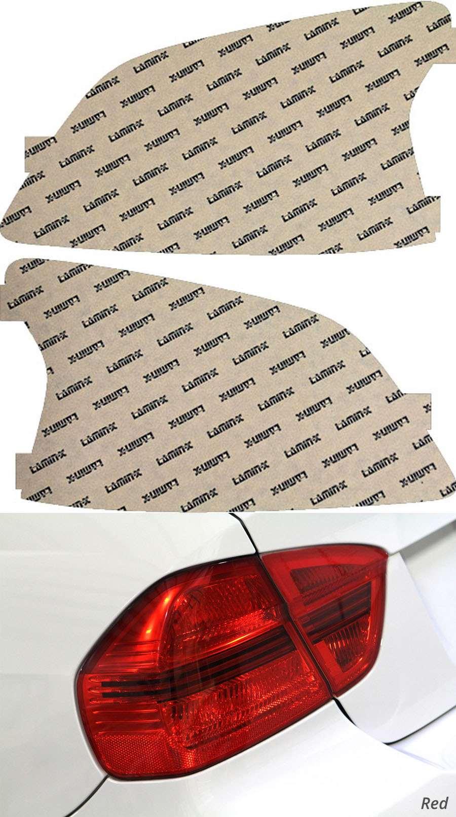 Toyota Yaris Sedan 07-11 Red Tail Light Covers Lamin-X T219R