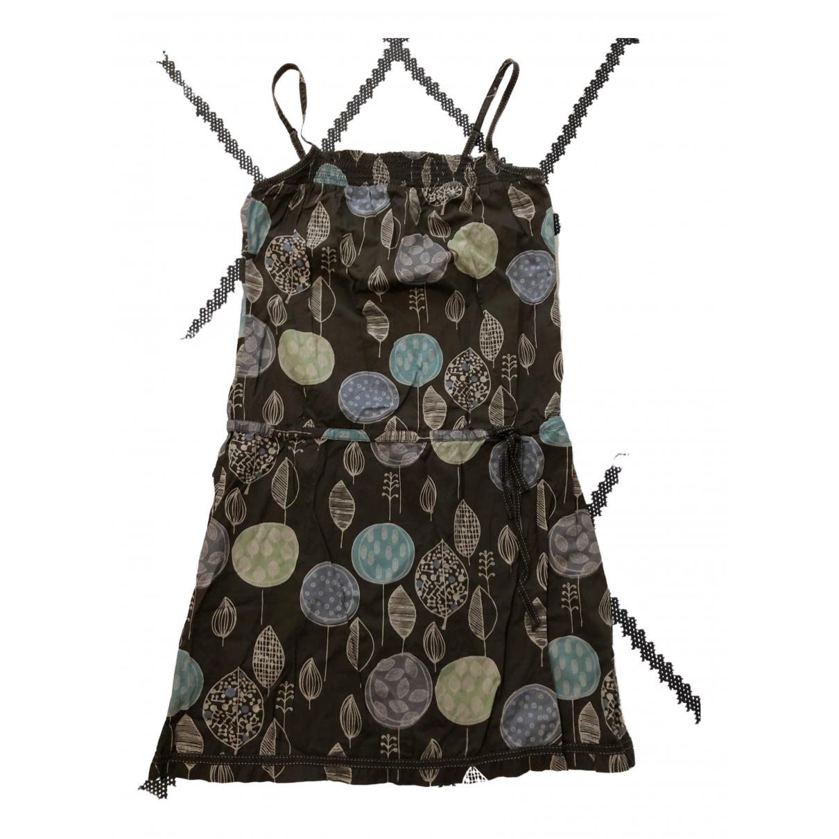 Esprit \N Kleid in  Braun Baumwolle